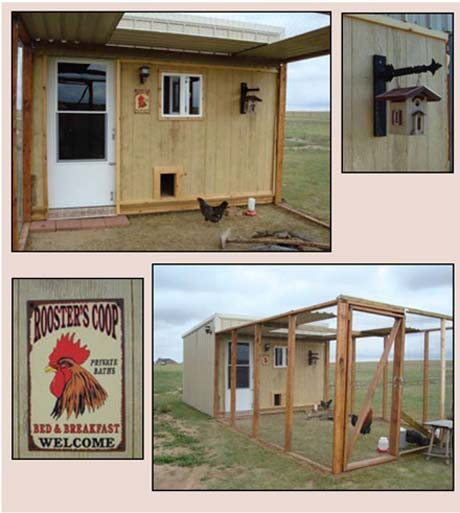 recycled chicken runs and coops