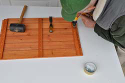 The three original floor panels were disassembled and the resulting pieces used to complete the conversion.
